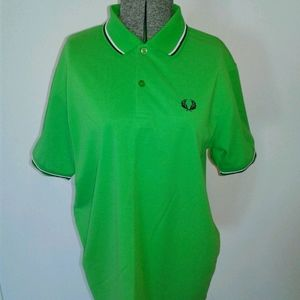 Fred Perry Mens L Large Polo Shirt slim fit